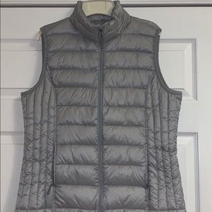 Silver Quilted Vest